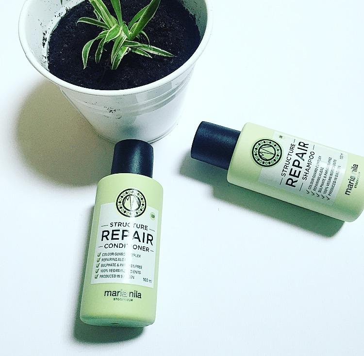 Volledig biologische shampoo, ik testte een nieuwe optie! Review: Maria Nila Palett Structure Repair Shampoo en Conditioner