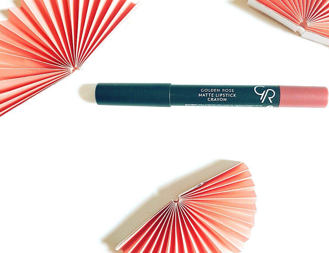Review: Golden Rose Matte Lipstick Crayon en Golden Rose Creamy Blush Stick
