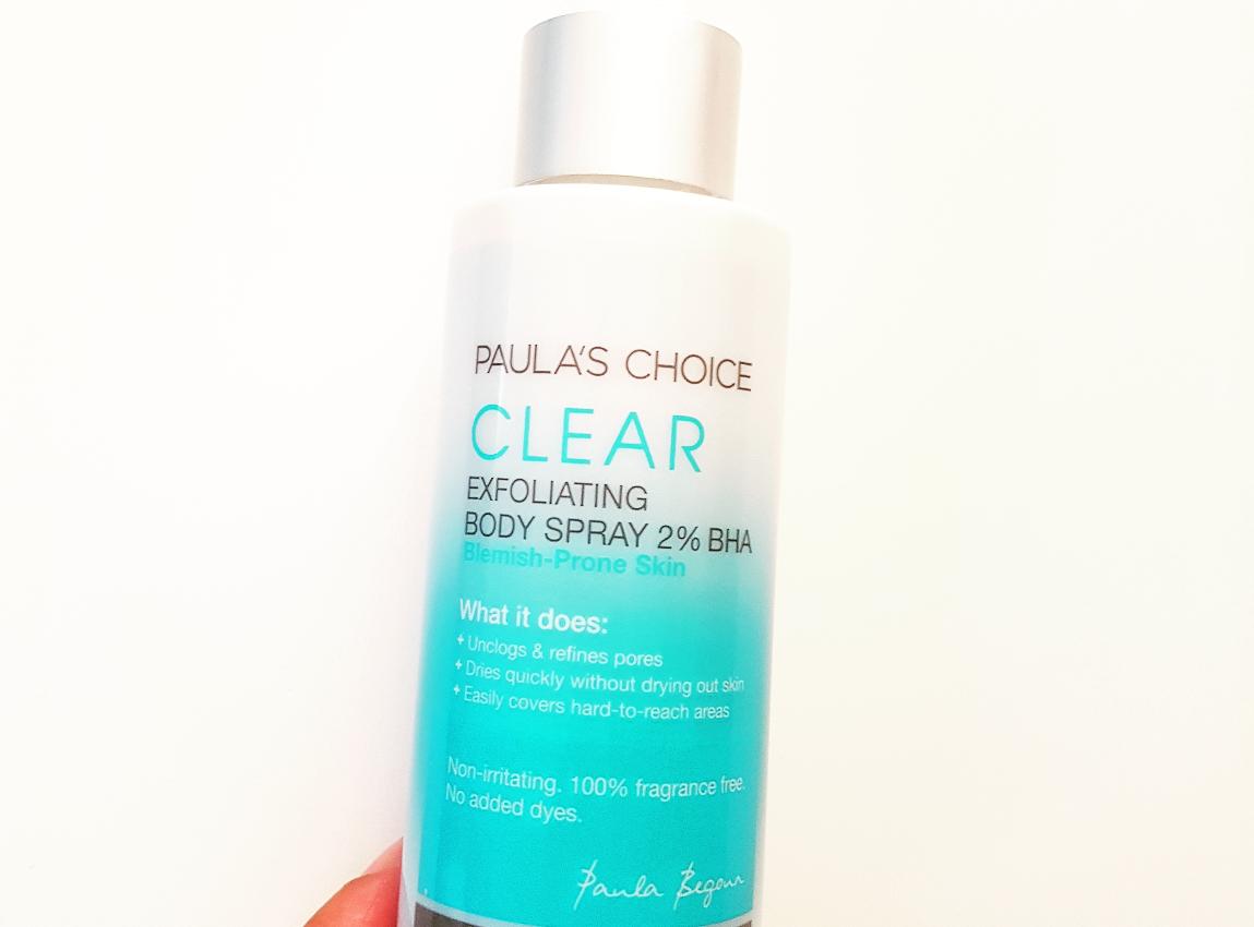 Kleine rode bultjes op je bovenarmen? Review: Paula's Choice Clear Exfoliating Body Spray 2% BHA.